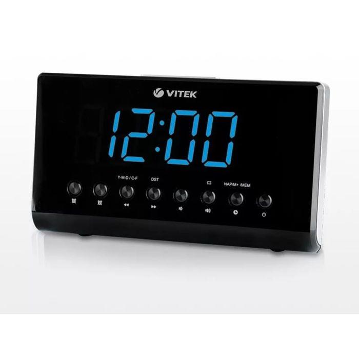 Радиобудильник Vitek VT-3526, FM, СВ, питание от сети, проекция изображения, черный