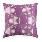 Декоративная наволочка на молнии 40х40 см фиолетовая