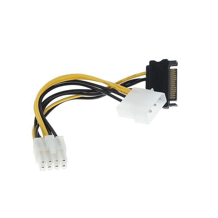 Разветвитель питания Cablexpert CC-PSU-82, Molex+SATA-PCI-Express 8pin, подключение к б/п
