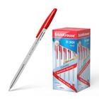 Ручка шариковая Erich Krause R-301 Classic, узел 1.0 мм, стержень красный, EK 43186, штрихкод на ручке