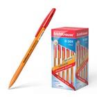 Ручка шариковая Erich Krause R-301 Orange Stick, узел 0.7 мм, стержень красный, EK 43196, штрихкод на ручке