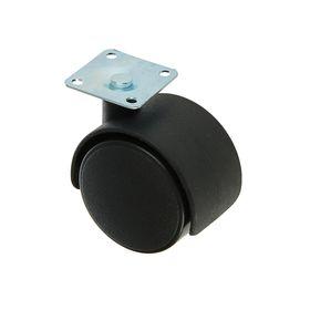 Колесо мебельное, d=50 мм, с площадкой, без тормоза