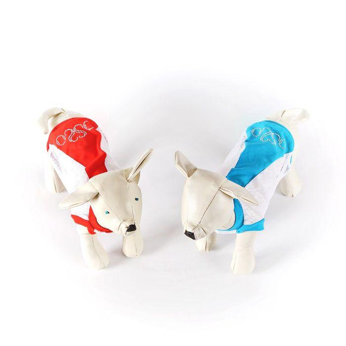 Майка OSSO для собак со стразами из сетки, размер 22