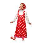 """Карнавальный костюм """"Маша"""", текстиль, р-р 26 рост 104 см, цвет красный"""