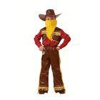 """Карнавальный костюм """"Ковбой"""", жёлтая бахрома, текстиль, рост 116 см"""