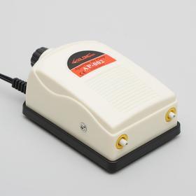 Компрессор СИЛОНГ AP-002, двухканальный, 5Вт, 2х2,5л/мин с регулятором