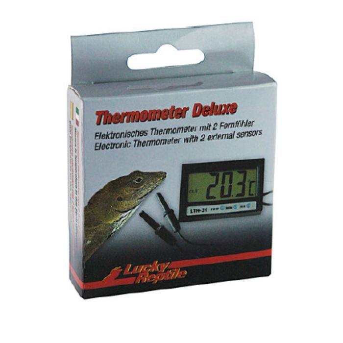 Цифровой термометр Deluxe с двумя внешними сенсорами