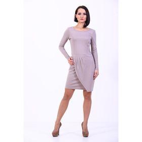 Платье женское, размер 42, цвет светло-кофейный 181Д306