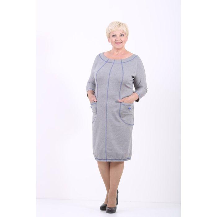 Платье женское, размер 54, цвет светло-серый 538Д500