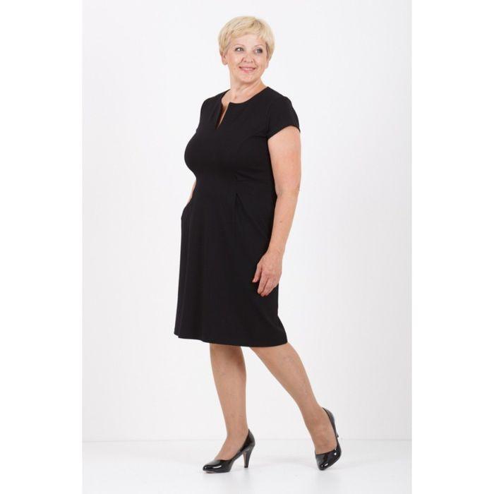 Платье женское, размер 52, цвет чёрный 314Д250