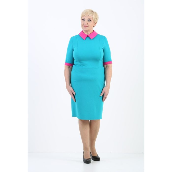 Платье женское, размер 48, цвет бирюза 408Д327