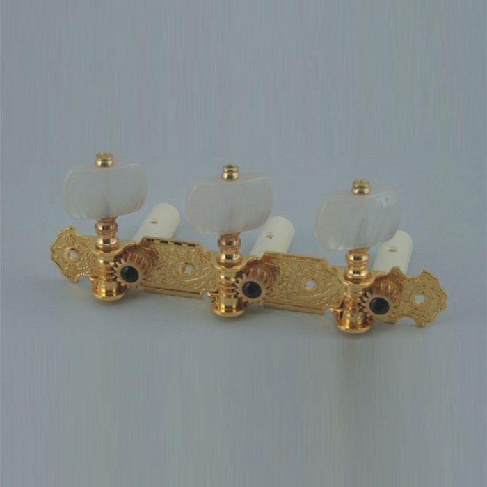 Комплект колковой механики на планке Alice AOS-020V1P позолоченный