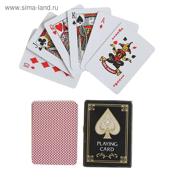 Карты игральные бумажные Mini playing cards, 54 шт., 3,8 × 5,2 см