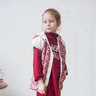"""Жилет для девочки """"АЛИРА"""", рост 116 см (60), цвет красная клетка/крем Ж21017-02"""