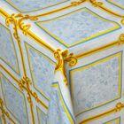"""Клеенка столовая на нетканой основе """"Орнамент классика"""", рулон 25 м, цвет голубой"""