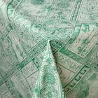 """Клеенка столовая на нетканой основе """"Римские каникулы"""", рулон 25 м, цвет зеленый"""