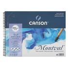 Альбом для акварели холодное прессование С4 240*320 мм Canson Montval 300 г/м2 12 листов, Фин спираль 200807161