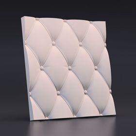 """Гипсовая 3D панель """"Кожа вытянутая"""" 500х500"""