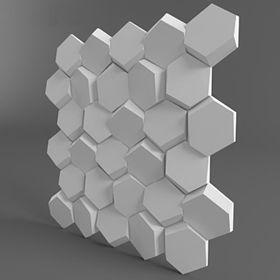 """Гипсовая 3D панель """"Улей"""" 500х500"""