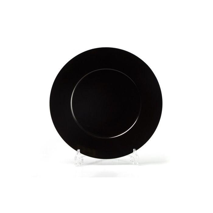Блюдо круглое, форма Zen, декор: Putoisage noir, 31 см