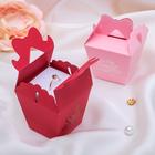 """Коробочка подарочная под кольцо/серьги """"Сюрприз с розой"""" 6*6*7,5, цвет МИКС"""