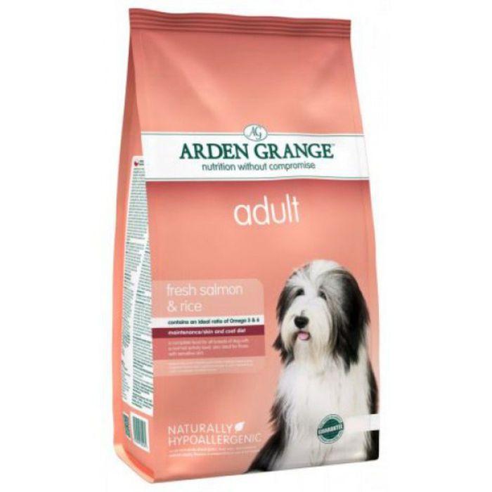 Сухой корм Arden Grange  для взрослых собак, с лососем и рисом, 6 кг.