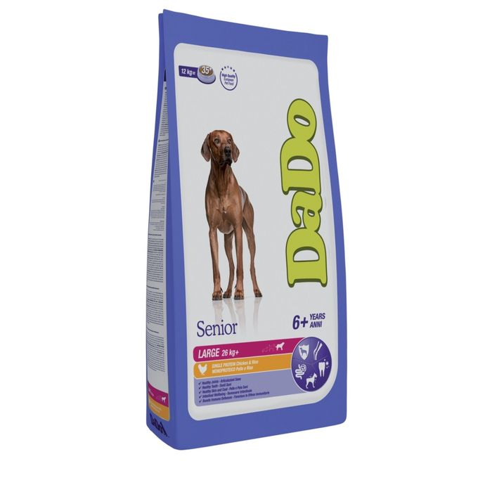 Сухой корм DaDo для стареющих собак крупных пород, с курицей и рисом, 3 кг.