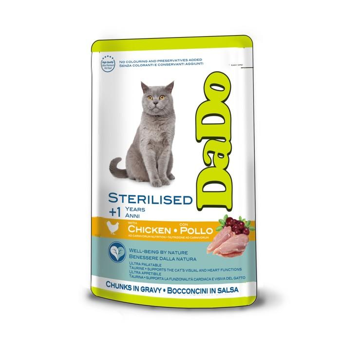 Паучи DaDo для стерилизованных кошек, с курицей,  85 гр