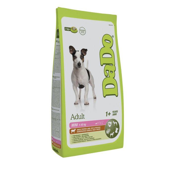 Сухой корм DaDo для собак мелких пород, с ягненком, рисом и картофелем, 2кг.