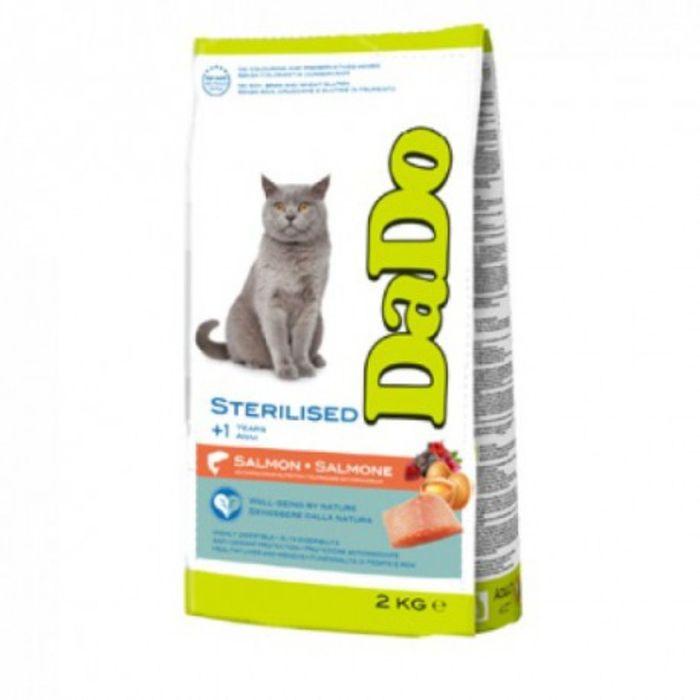 Сухой корм DaDo для стерилизованных кошек, с лососем, 2кг