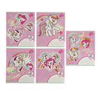 Тетрадь 18 листов линейка My Little Pony, обложка мелованный картон, блёстки, МИКС