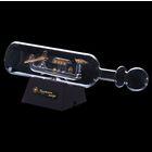 Корабль сувенирный в бутылке с золотистым парусом в полоску «Гондольер», 9 х 20 х 5 см