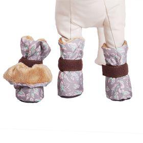 Ботиночки на меху OSSO для маленьких собак, S (4 х 3,5 х 9 см), микс цветов