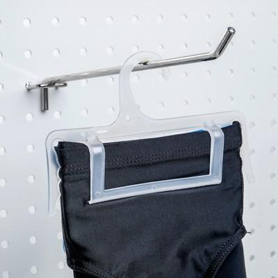Вешалка для белья L 15.3, (фасовка 10 шт), цвет прозрачный