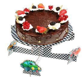 """Подставка под торт """"Самый крутой"""", тачки"""