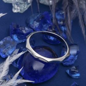 Кольцо 'Классика' геометрия, цвет серебро, размер 16 Ош