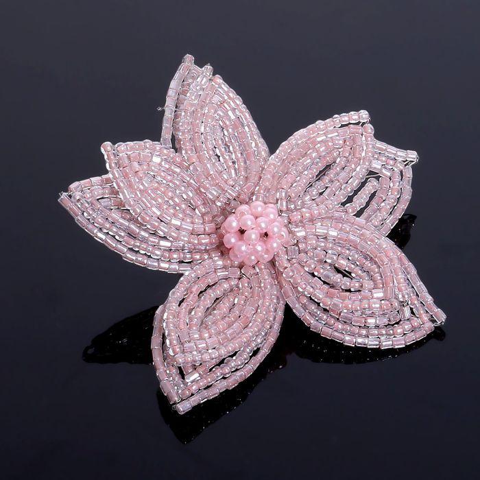 """Брошь """"Цветок"""" лилия, цвет розовый"""