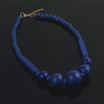 """Бусы """"Геометрическая классика"""", цвет синий, 50см"""