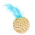 Когтеточка-шар из джута, 8 см, микс цветов