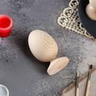 Яйцо на подставке деревянное, декупаж, 9х5 см