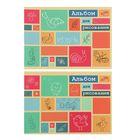 """Альбом для рисования А5, 16 листов на скрепке """"Цветные прямоугольники"""", ВД-лак, блок 100г/м2, МИКС"""