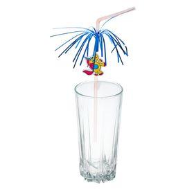 Набор коктейльных трубочек с дождиком 'Единорог', 6 шт. Ош