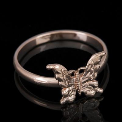 "Кольцо позолота ""Бабочка"", 18 размер"