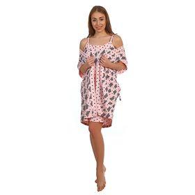 Комплект женский (пеньюар, сорочка) ПС-23 МИКС, р-р 50