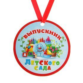 """Медаль-магнит """"Выпускник детского сада"""" Заяц, игрушки"""