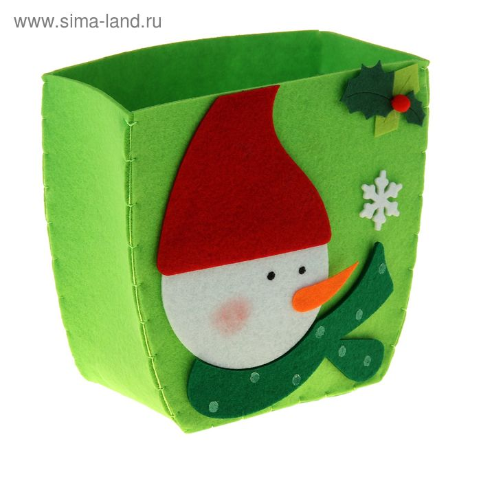 "Кашпо ""Снеговик и снежинка"""