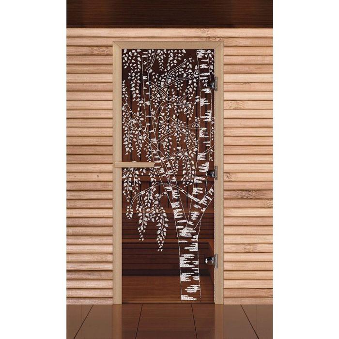 Дверь Левое открывание, 190х70см, стеклянная 8мм бронза