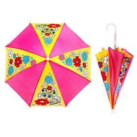 Зонт детский механический 'Улыбайся', r=26см, цвет розовый/жёлтый Ош