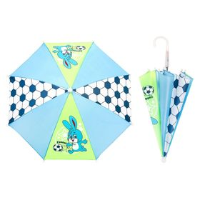 Зонт детский 'Гол', механический, r=26см, цвет салатовый/голубой Ош