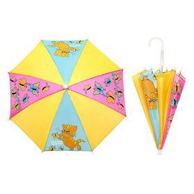 Зонт детский 'Вместе веселее', механический, r=26см, цвет жёлтый/голубой/розовый Ош